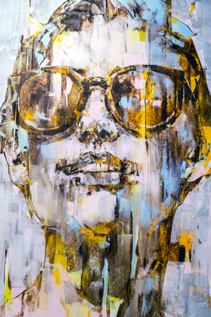 fine art portrait: Istanbul, Turkey - November 13, 2015: Piece of art at the 10th edition of the annual Contemporary Istanbul artshow held in Lutfi Kirdar Convention Center, Istanbul on November 13.