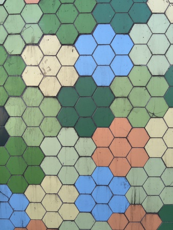 modern: Grungy hexagonal pattern texture background