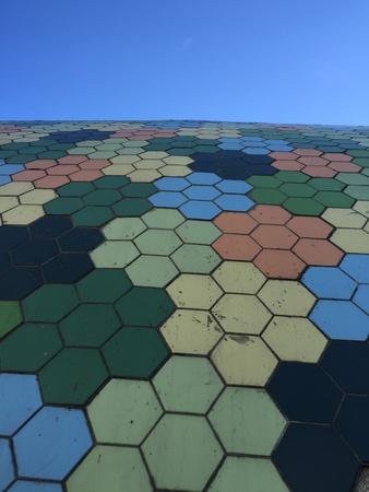 grid: Grungy hexagonal pattern texture background