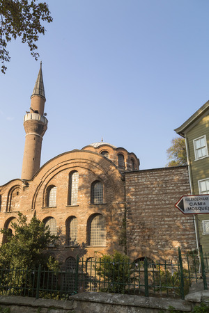 ottoman empire: Istanbul, Turkey - November 13, 2015: Exterior view from Kalenderhane Mosque built in Ottoman Empire period in Fatih, Istanbul. Taken on November 13, 2015.