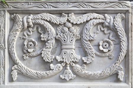 details: Ottoman marble carving art detail