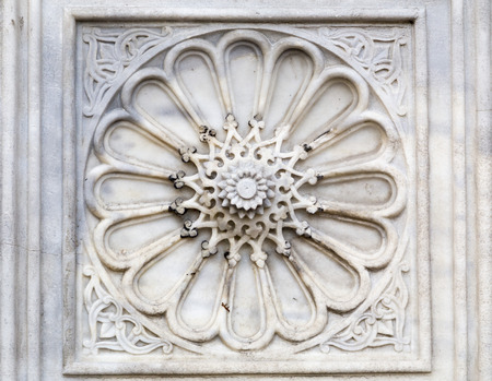 bas: Ottoman-Turkish marble carving detail Stock Photo