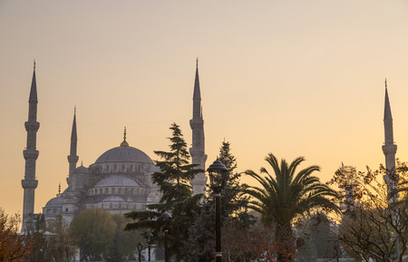 islamic scenery: Sultanahmet or the Blue Mosque, Istanbul, Turkey