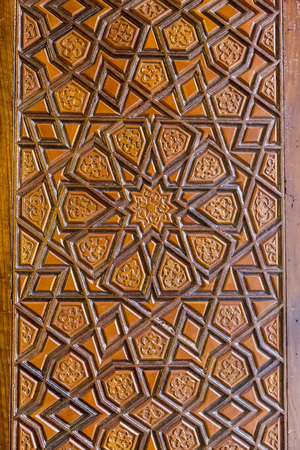 tallado en madera: Otomana wooding talla arte, modelo islámico geométrico
