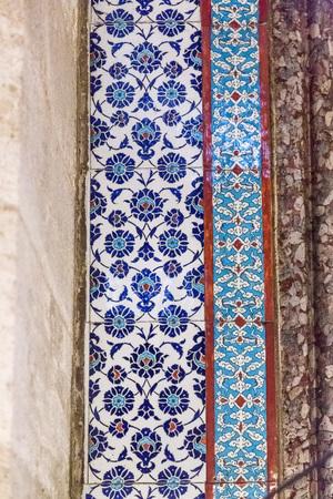 muhammed: Iznik tiles Islamic art wall detail Stock Photo