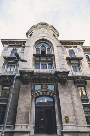 oficina antigua: Estambul, Turquía - 3 de de febrero de, 2016: Exterior de la Oficina de Correos y Gran edificio antiguo Ministerio del Imperio Otomano Publicar en Eminonu, Estambul el 3 de febrero de 2016. Editorial