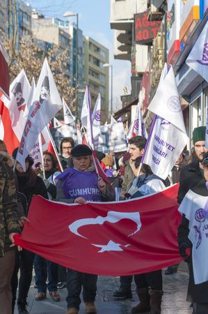 protestors: Women rights protestors in Istanbul Editorial