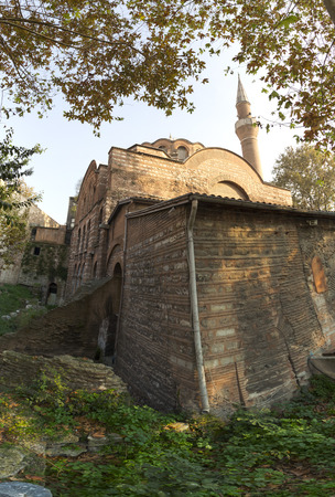 fatih: Exterior view from Kalenderhane Mosque built in Ottoman Empire period in Fatih, Istanbul. Stock Photo
