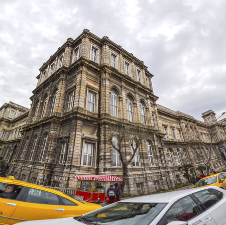 historical building: Istanbul, Turkey - January 1, 2016: Exterior view of the historical Istanbul University building located in Macka, Istanbul on January 1st, 2016. Editorial