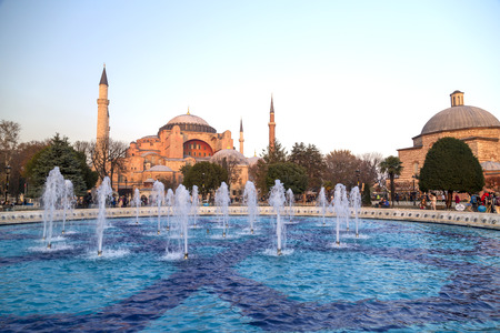 hagia: Hagia Sophia, Istanbul, Turkey Stock Photo