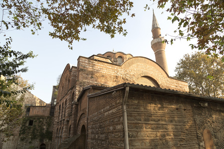 ottoman empire: Exterior view from Kalenderhane Mosque built in Ottoman Empire period in Fatih, Istanbul. Stock Photo