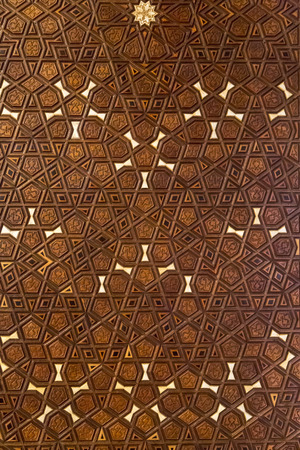 carvings: Ottoman - Turkish wooden carving, geometric pattern background