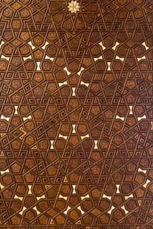 woodcutting: Ottoman - Turkish wooden carving, geometric pattern background