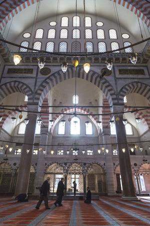 suleymaniye: Interior view from the Suleymaniye Mosque, Istanbul Editorial