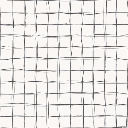 cuadros blanco y negro: diseño sin patrón, con rayas de bosquejo dibujado a mano, patrón de rejilla a cuadros, líneas simples de forma cuadrada, ideal para todos los propósitos web e impresión. Vectores