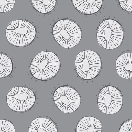 mid century: Seamless vector pattern with 50s style mid-century modern circle drawings, repeating background for all web and print purposes Illustration