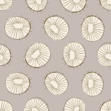 century: Seamless vector pattern with 50s style mid-century modern circle drawings, repeating background for all web and print purposes Illustration
