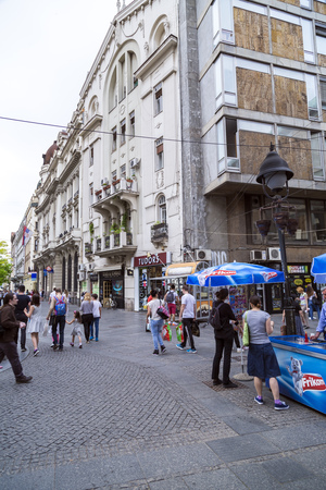 serb: Street view and architecture from Belgrade, the Serbian capital.