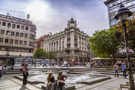 Street view and architecture from Belgrade, the Serbian capital.