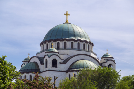 belgrade: The Serbian Orthodox Christian Church of St Sava built where remains of founder of the Serb Orthodox Church -Saint Sava- were burned. The dome is 70m high.