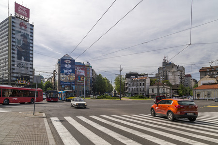 serbian: Street view and architecture from Belgrade, the Serbian capital.