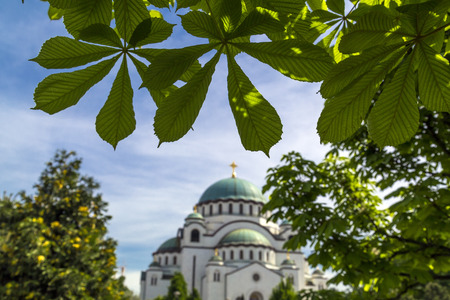 The Serbian Orthodox Christian Church of St Sava built where remains of founder of the Serb Orthodox Church -Saint Sava- were burned. The dome is 70m high.