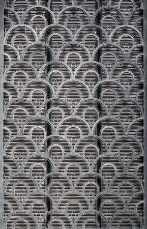 fish skin: Wall detail with fish skin, half circle pattern texture background, grunge scales architectural detail