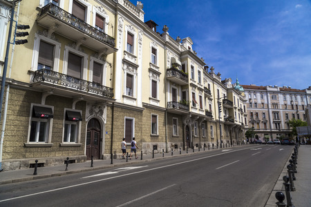 outside house: Street view and architecture from Belgrade, the Serbian capital.