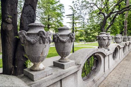 serbian: Classic architectural detail in Belgrade, the Serbian capital Stock Photo