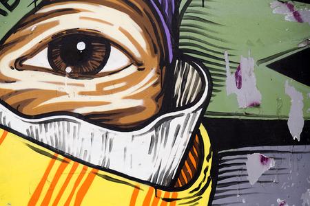 street art: Detail from street art in Belgrade, Serbia Stock Photo