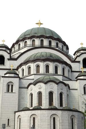 serbian: The Serbian Orthodox Christian Church of St. Sava, Belgrade, Serbia Stock Photo