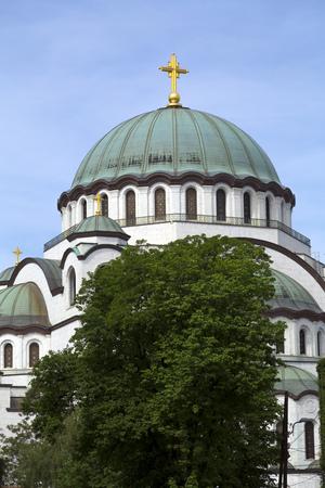 serb: The Serbian Orthodox Christian Church of St. Sava, Belgrade, Serbia Stock Photo