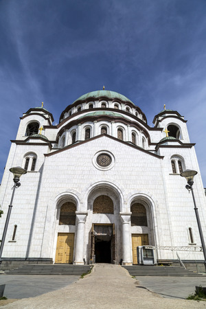 serb: The Serbian Orthodox Christian Church of St. Sava, Belgrade, Serbia Stock Photo