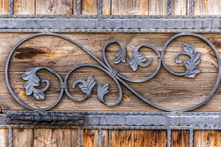 wood door: Carved wooden door detail texture Stock Photo
