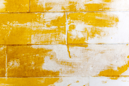 surface level: Grungy wall texture background with painted and peeled layer Stock Photo