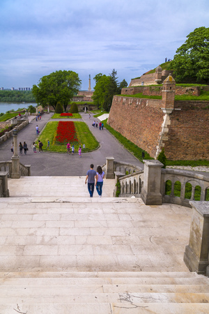 ottoman empire: Belgrade, Serbia - April 17, 2016: Kalemegdan (Kalemeydan; Fortress Square in Turkish) Park and Fortress by the Danude and Sava Rivers built in Ottoman Empire period in Belgrade.