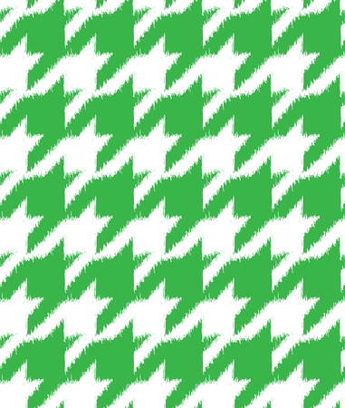 twill: Hand drawn ikat style houndstooth seamless pattern design, repeating vector background for all web and print purposes