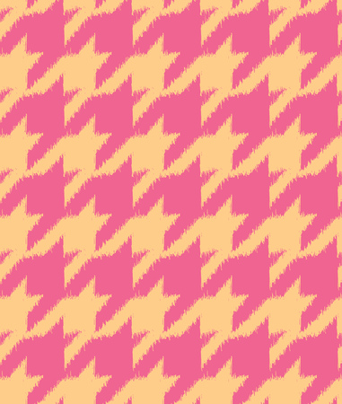 houndstooth: Hand drawn ikat style houndstooth seamless pattern design, repeating vector background for all web and print purposes