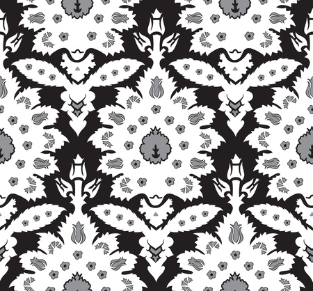 iznik: Ottoman Turkish style floral seamless pattern, ornamental decorative vintage pattern design, repeating damask background for all web and print purposes