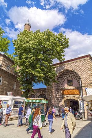kapalicarsi: Bursa, Turkey - May 17, 2016: Old Grand Bazaar, covered shopping complex built in Ottoman Empire period in Bursa, Turkeys 4th largest city. Editorial