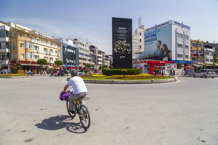 marmara: Yalova, Turkey - May 16, 2016: View from the central square of Yalova city located Marmara Coast, Turkey. Daily life and cityscape on May 16, 2016. Editorial