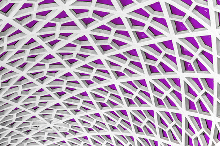 architectural  detail: Architectural detail texture background with oriental style hexagonal grid pattern Stock Photo