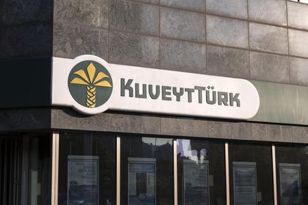 headquarters: Istanbul, Turkey - May 24, 2016: Headquarters building of KuveytTurk, a Turkish-Arab finance corporation in Esentepe, Istanbul.