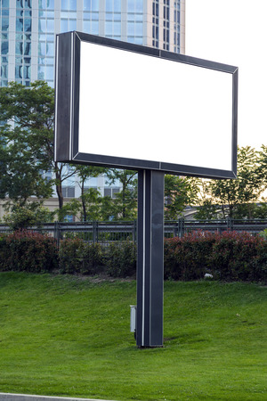 signage outdoor: Blank advertisement signage, urban outdoor billboard with copy space including clipping paths.