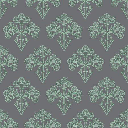 fondo elegante: Diseño del estilo de la vendimia sin fisuras patrón floral, flores elegantes repetición de fondo, patrón de superficie para web e impresión.