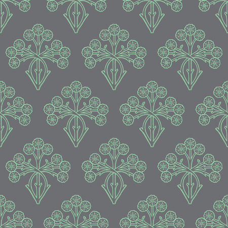vintage floral pattern: Vintage style floral seamless pattern design, elegant flowers repeating background, surface pattern for web and print.
