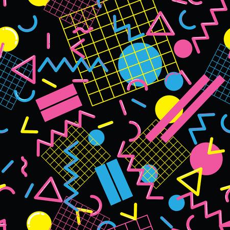 スタイリッシュでファッショナブルなシームレス パターン ベクトル タイル張りの繰り返し、抽象的な幾何学図形をデザインの背景、ウェブと印刷