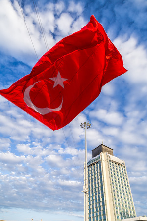 attempt: Turkish flag at Taksim Square, Istanbul