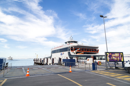 turkiye: IDO ferry station and ferries carrying passengers from Yenikapi to many points thru Marmara Sea Editorial