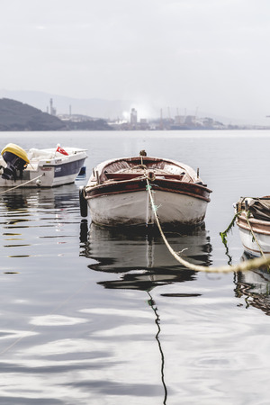 generic location: Fishing boats in Kayikhane district of Gemlik, a bay town by the Marmara Sea, Bursa Province of Turkey. Editorial